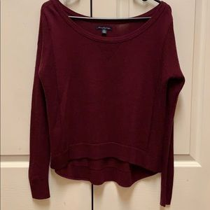 American Eagle size small burgundy sweater